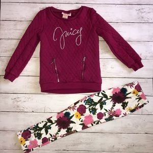 Juicy Couture outfit 6 NWOT raspberry top flowers
